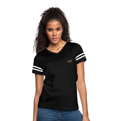 "Women's Qronation ""Debut Gold"" Vintage Sport T-Shirt - black/white"