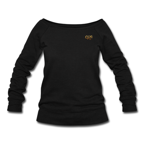 Women's Qronation Wideneck Sweatshirt - black