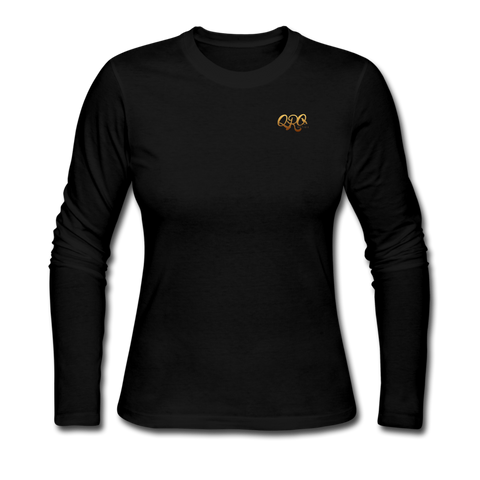 Women's Qronation Long Sleeve Jersey T-Shirt - black