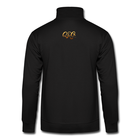 "Hanes Qronation ""Debut Gold"" Quarter Zip Pullover - black"