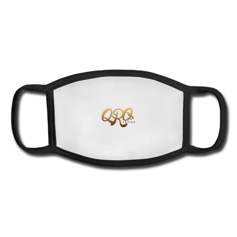 "Qronation ""Debut Gold"" Youth Face Mask - white/black"