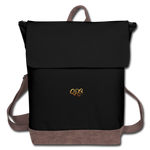 Canvas Backpack - black/brown