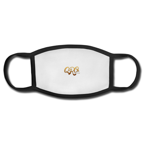 "Qronation ""Debut Gold"" Adult Face Mask - white/black"