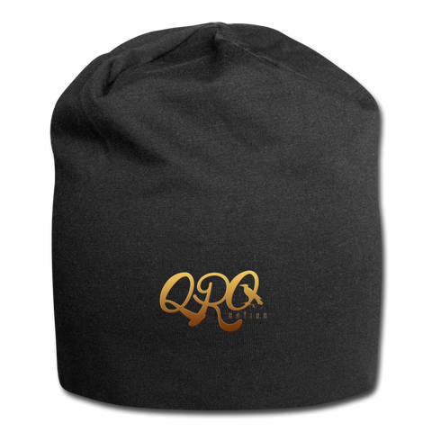 "Qronation ""Debut Gold"" Jersey Beanie - black"