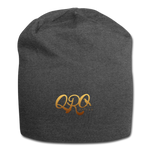 "Qronation ""Debut Gold"" Jersey Beanie - charcoal gray"