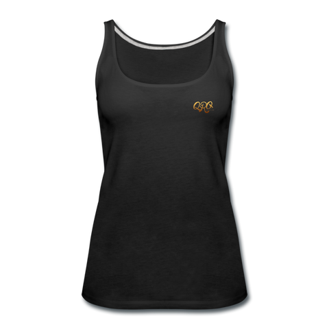 "Women's Qronation ""Debut Gold"" Premium Tank Top - black"