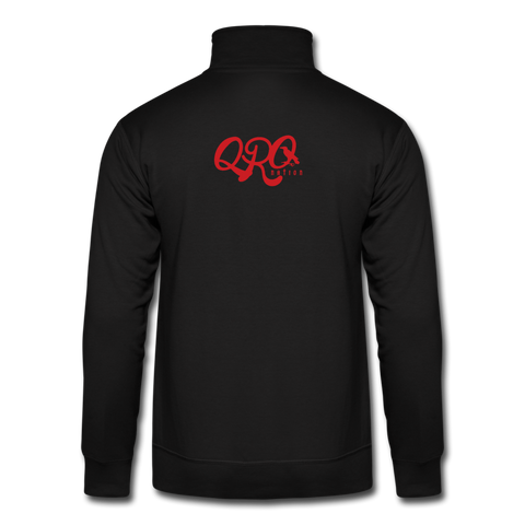 "Qronation ""Red Rage"" Quarter Zip Pullover - black"