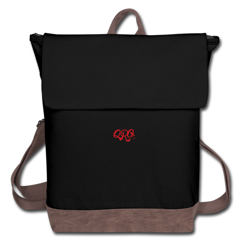 "Qronation ""Red Rage"" Canvas Backpack - black/brown"