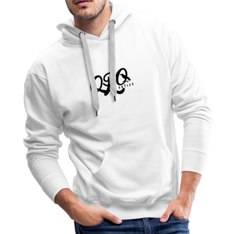 "Qronation Men's ""Clean or Cream"" Premium Hoodie - white"