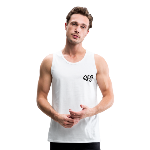 "Qronation Men's ""Clean or Cream"" Premium Tank - white"