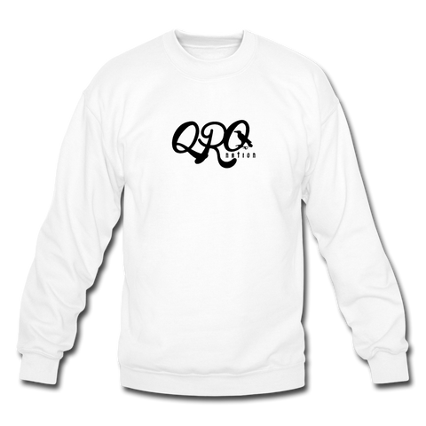 "Qronation Men's ""Clean or Cream"" Crewneck Sweatshirt - white"