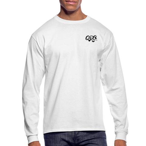 "Qronation Men's ""Clean or Cream"" Long Sleeve T-Shirt - white"