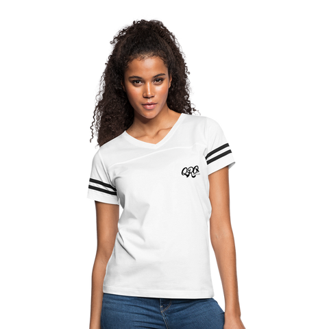 "Women's Qronation ""Clean or Cream"" Vintage Sport T-Shirt - white/black"