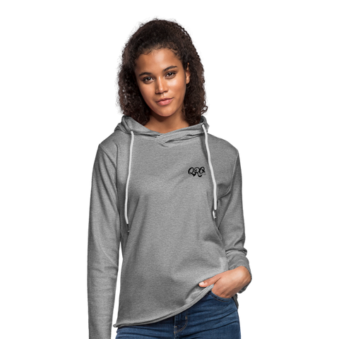 "Unisex Qronation ""Clean or Cream"" Lightweight Hoodie - heather gray"
