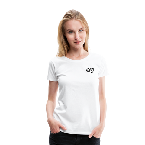 "Women's Qronation ""Clean or Cream"" Premium T-Shirt - white"