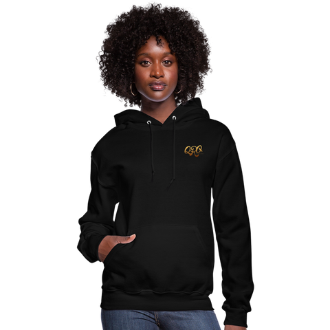 "Women's Qronation ""Debut Gold"" Brand Hoodie - black"