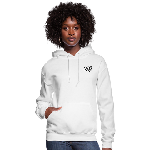 "Women's Qronation ""Clean or Cream"" Brand Hoodie - white"