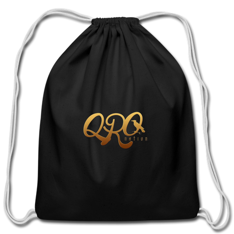 "Qronation ""Debut Gold"" Cotton Drawstring Bag - black"