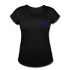 "Women's Qronation ""True Blue"" Tri-Blend V-Neck T-Shirt - black"