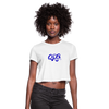 "Women's Qronation ""True Blue"" Cropped T-Shirt - white"