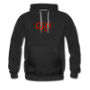 "Qronation Men's ""Red Rage"" Premium Hoodie - black"