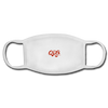 "Qronation ""Red Rage"" Adult Face Mask - white/white"