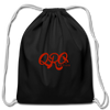 "Qronation ""Red Rage"" Drawstring Bag - black"