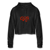 "Women's Qronation ""Red Rage"" Cropped Hoodie - deep heather"