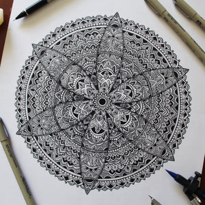 Shadow Mandala Original Artwork