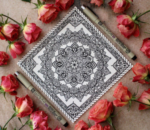 Arabesque Mandala Art Print