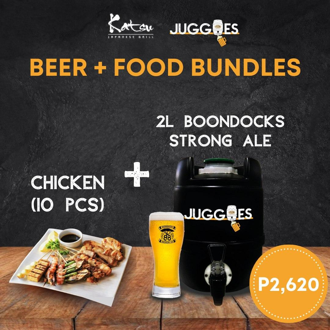 Boondocks Strong Ale + Katsu Chicken (10 pieces) | 2L Bundle