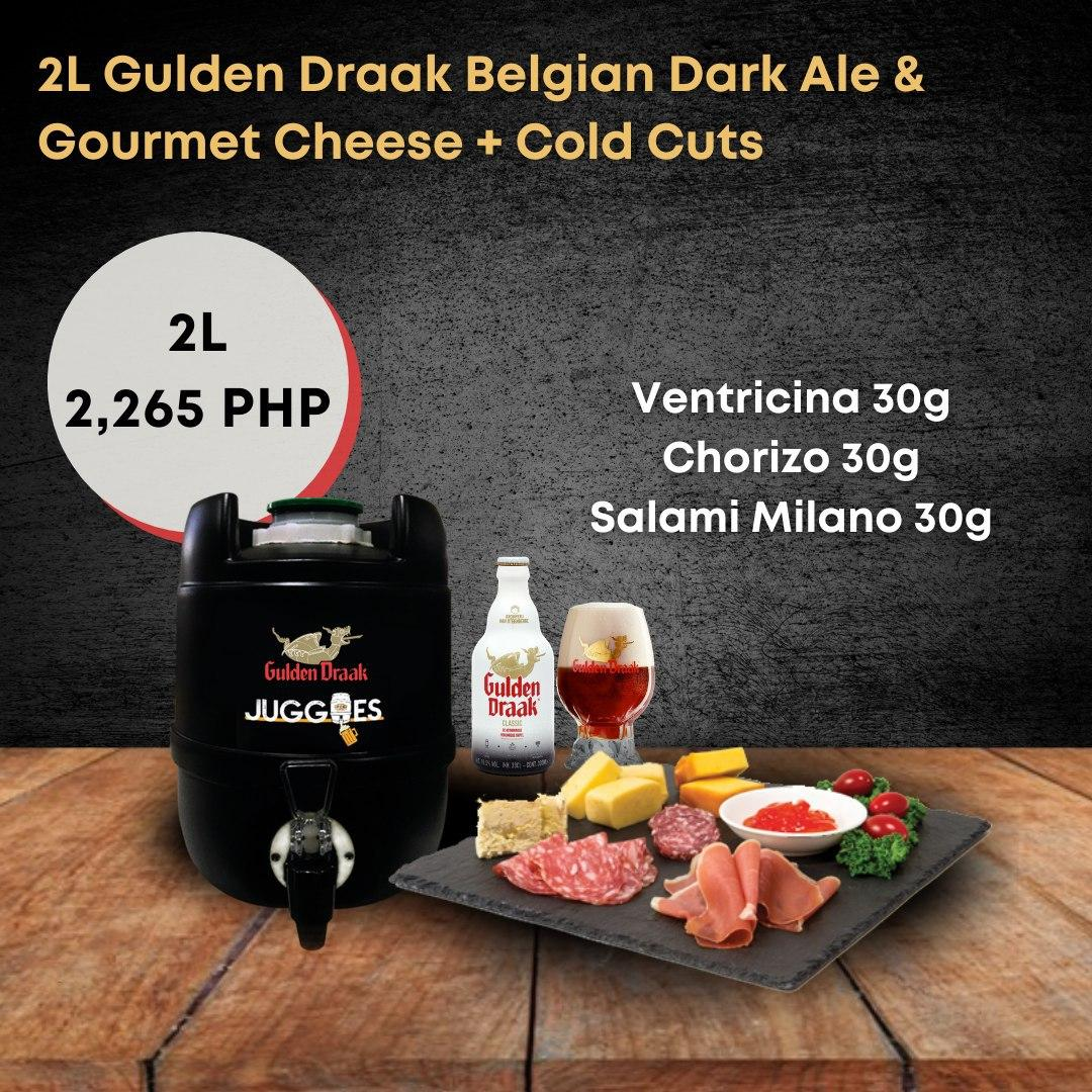 Gulden Draak Belgian Dark Ale & Gourmet Cheese + Cold Cuts | 2L Bundle