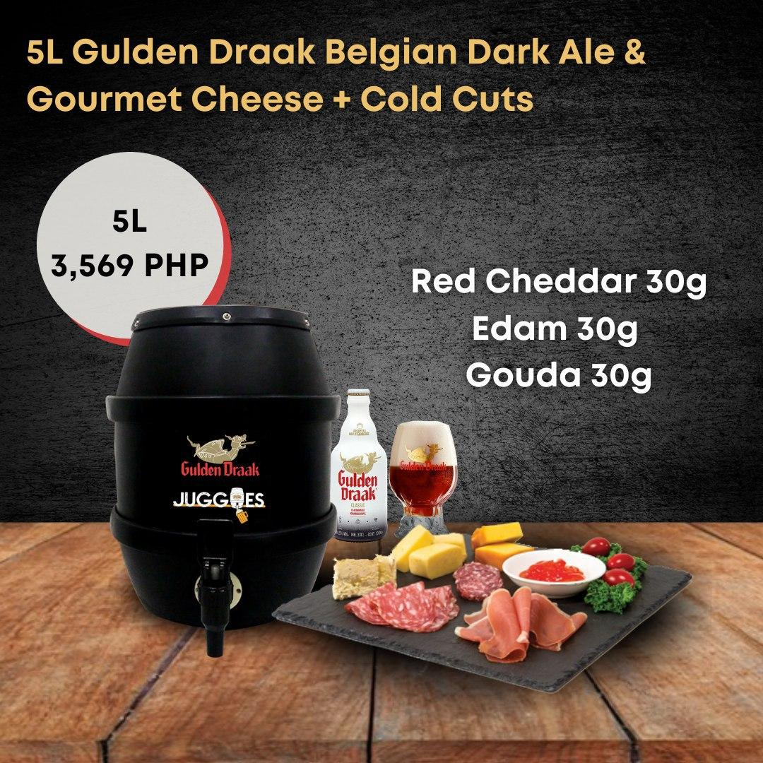 Gulden Draak Belgian Dark Ale & Gourmet Cheese + Cold Cuts | 5L Bundle
