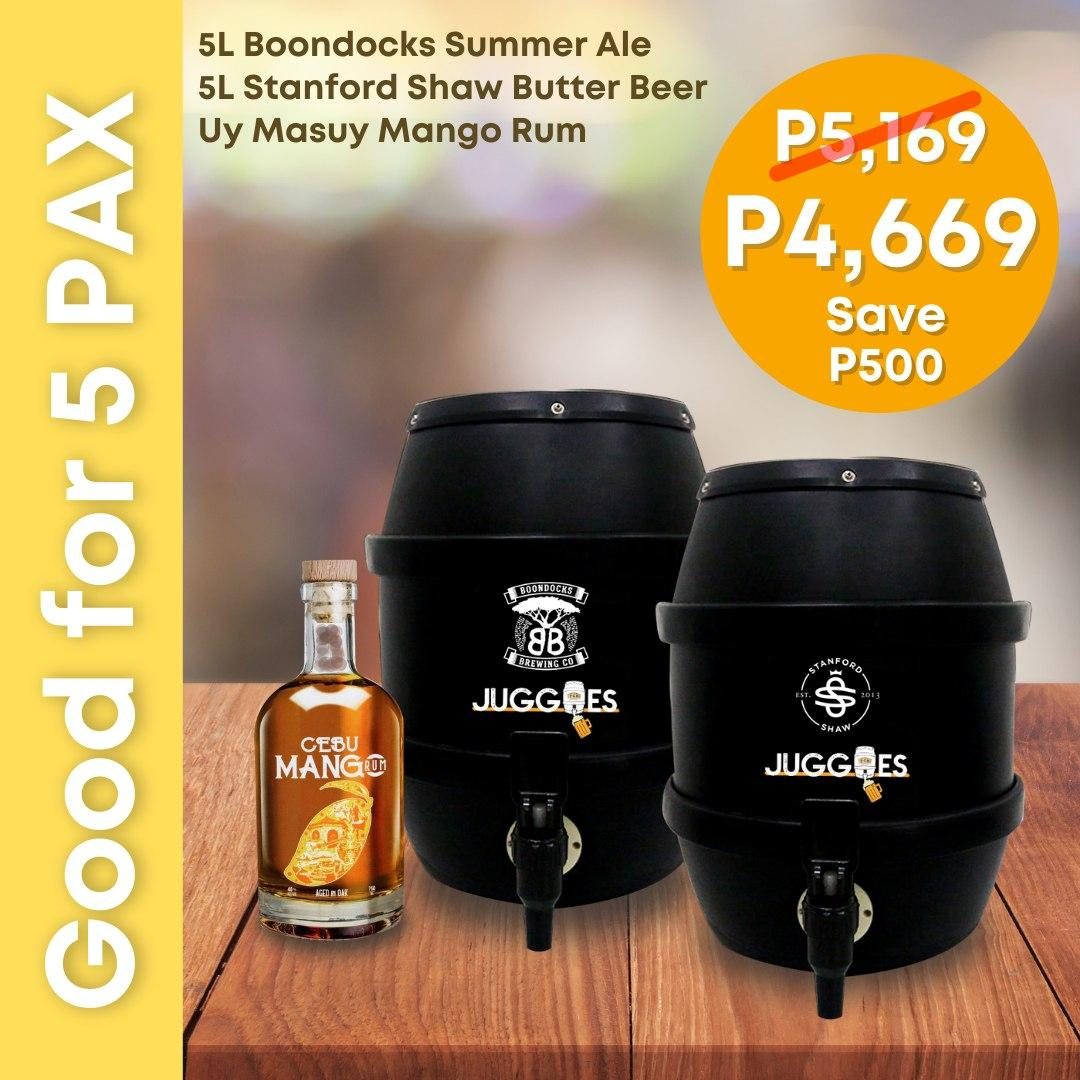 STAYCATION PACKAGES: Party Juggies good for 5 PAX