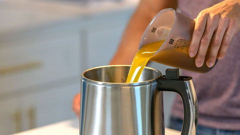 Clarified Butter Going Into MagicalButter Machine from Magical Silicone Cup