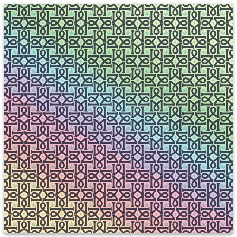 Magical Pattern Square Sticker