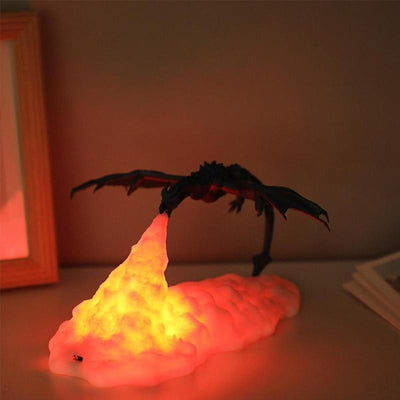 3D Fire Dragon Night Lamp