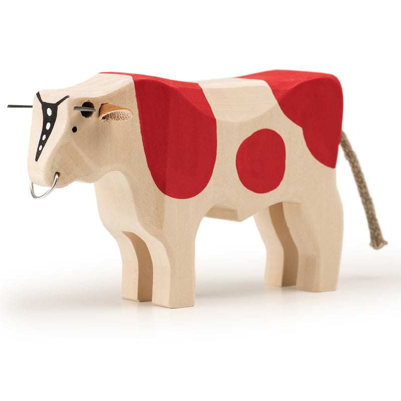 Large Bull (wood, red)