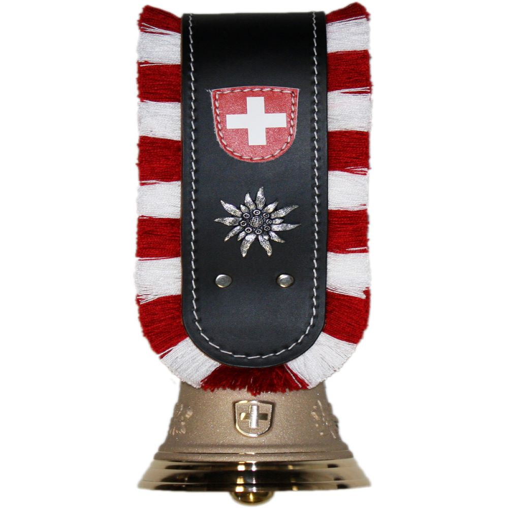 Berger Giftbell with strap, fringe, Swiss coat of arms and Edelweiss