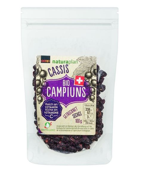 Naturaplan Bio Campiuns Organic Campiuns Dried Blackcurrants 100 g