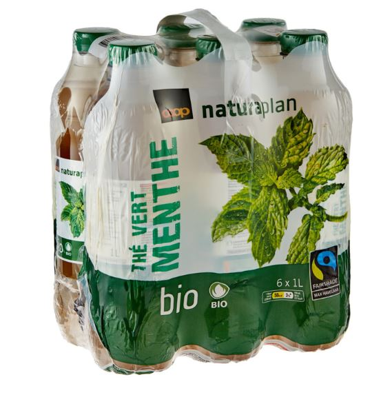 Naturaplan Organic Mint Green Ice Tea 6 x 1 L