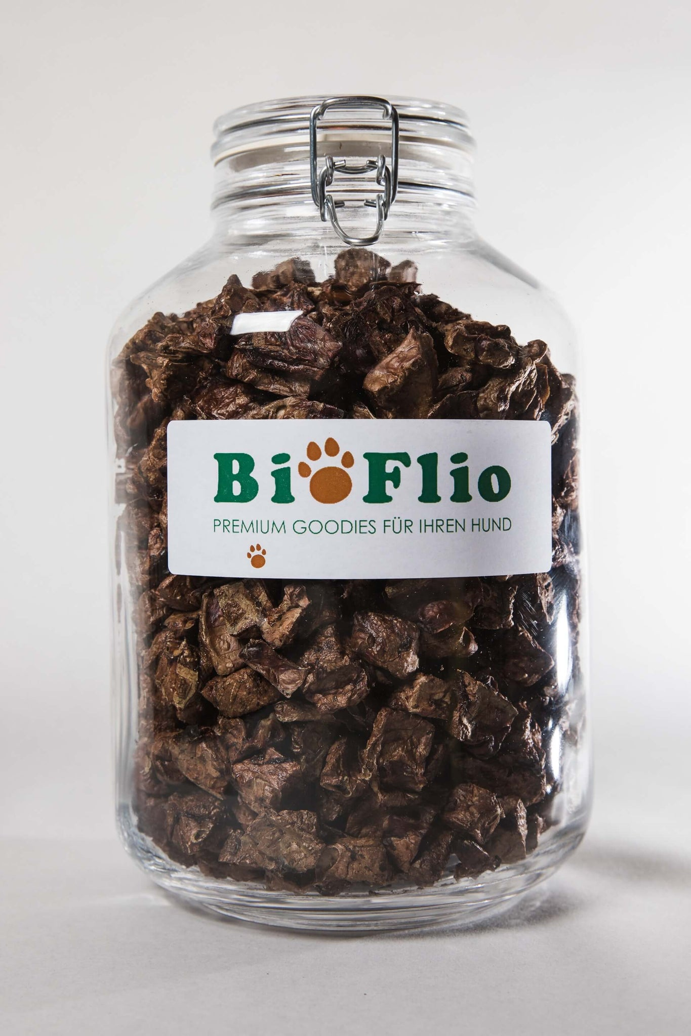 BioFlio Organic beef lungs Goodies 500g (preserving jar)
