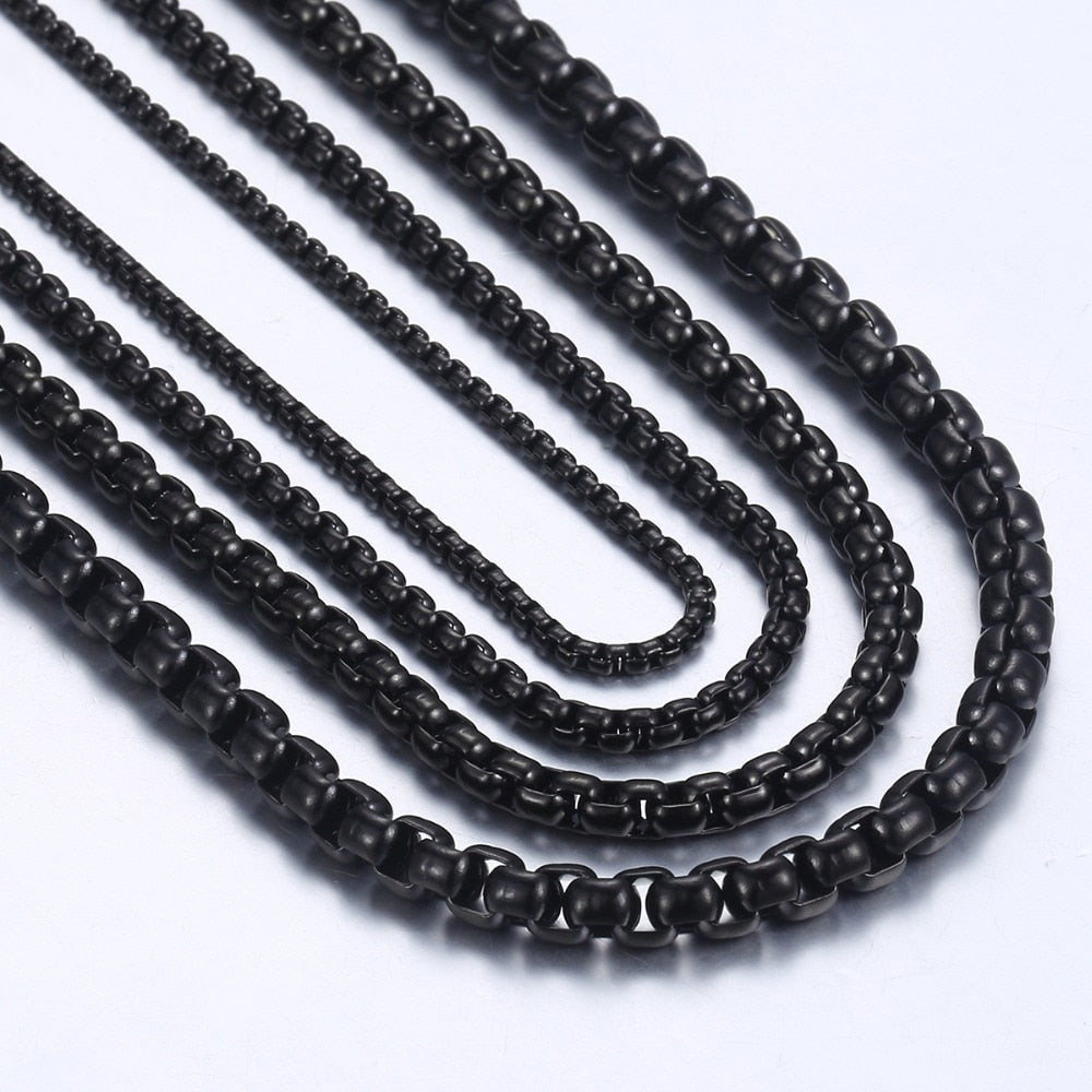 Black Box Chain Necklace For Men