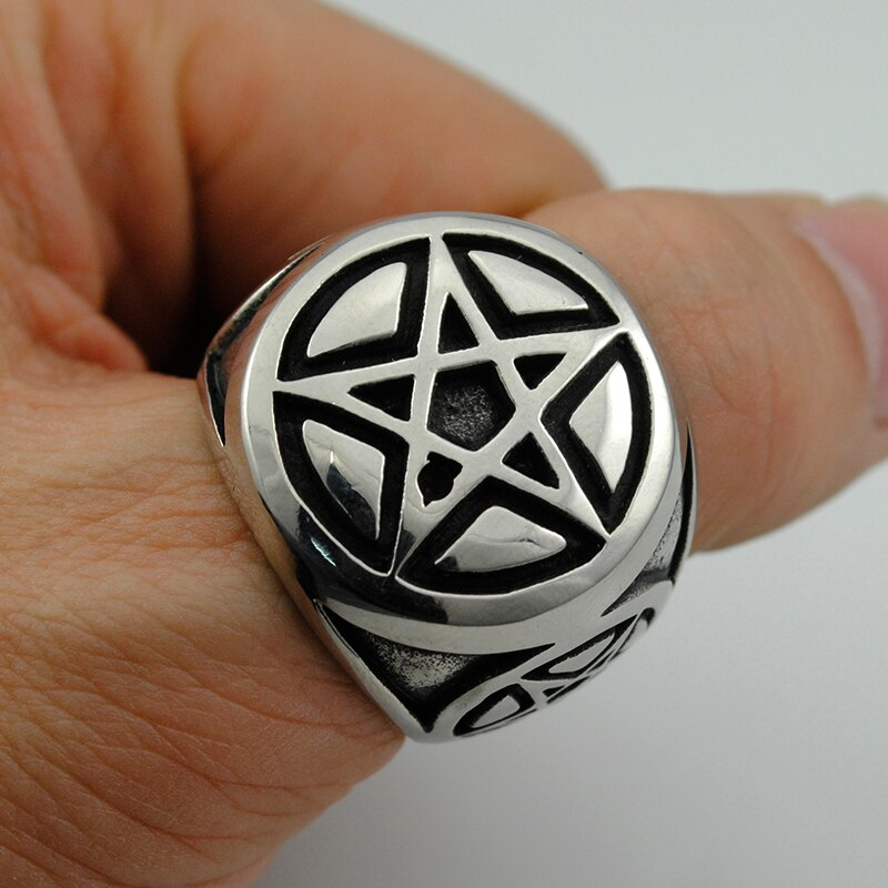 Retro Stainless Steel Magic Star Ring