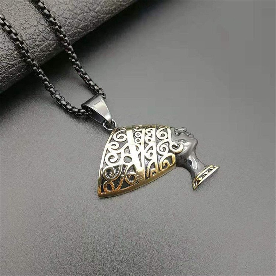 Nefertiti Pendant Necklaces Men