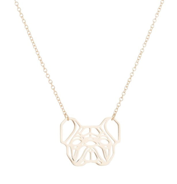 Origami Bear Chain Pendant Necklace