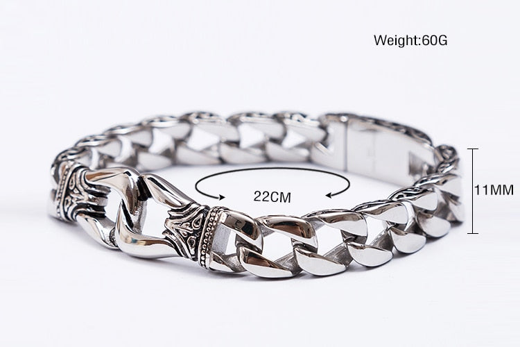 Stainless Steel Charm Bracelet Men
