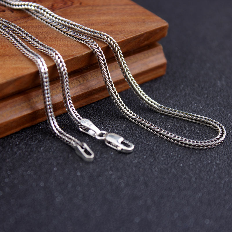 Pure Silver Weave Necklace