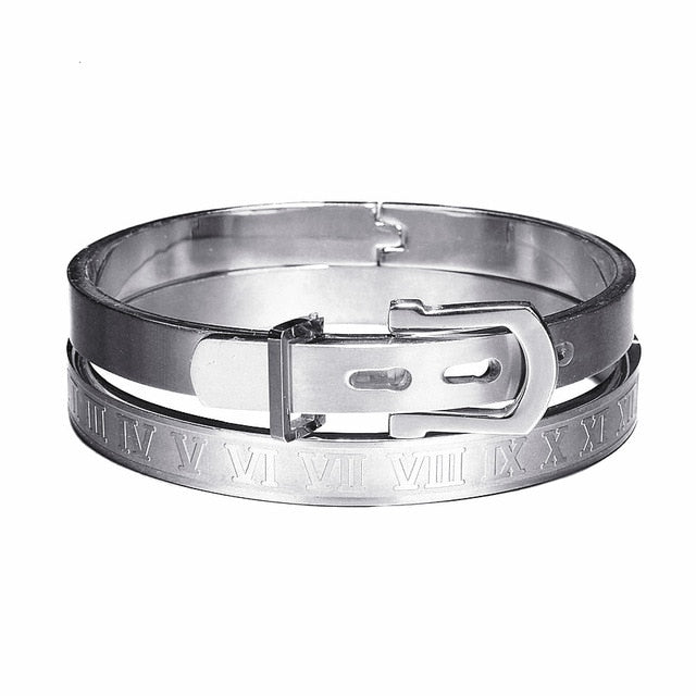 Type C Twisted Roman Numeral Bangle