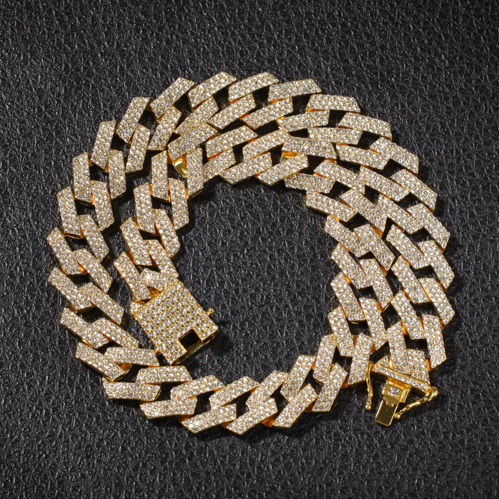 Prong Cuban Link Chains Necklace